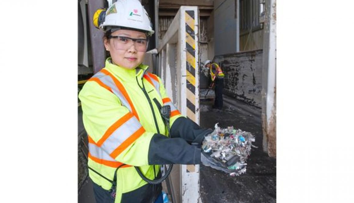 EMA Director-at-Large Stephanie Voysey with Lafarge
